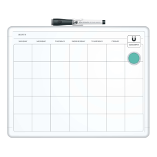 U Brands Magnetic Dry Erase Monthly