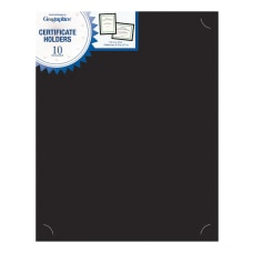 Geographics Certificate Holder Black Recycled 10