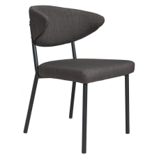 Zuo Modern Pontus Dining Chairs Charcoal