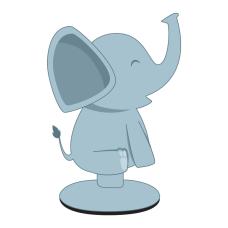 Digital Energy Phone Suction Stand Elephant