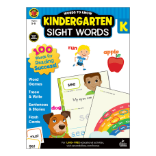 Brighter Child Words To Know Workbook