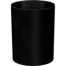 CEP Ice Black Round Wastebasket 42