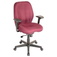 Eurotech Multifunction Task Chair BurgundyBlack