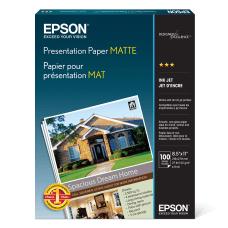Epson Presentation Paper Matte Letter Size