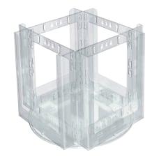 Azar Displays 4 Pocket Acrylic Revolving