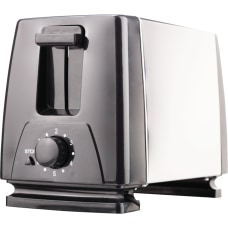 Brentwood Toaster Toast Black Stainless Steel