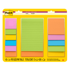 Post it Super Sticky Notes Assorted