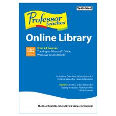 Professor Teaches Online Library