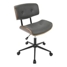 LumiSource Lombardi Office Chair WalnutGrey