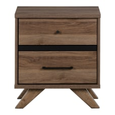 South Shore Flam 2 Drawer Nightstand