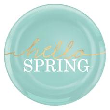 Amscan Hello Spring Plastic Plates 7