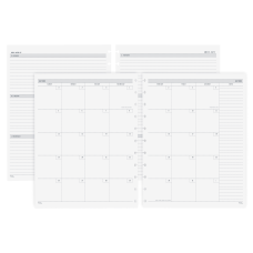 TUL Discbound Academic WeeklyMonthly Planner Refill
