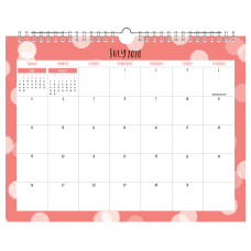 Office Depot Monthly Academic Wall Calendar