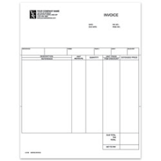 Custom Laser Service Invoice For DACEASY