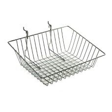 Azar Displays Sloped Chrome Wire Baskets