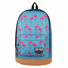 Volkano Suede Series Flamingo Backpack With