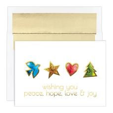 JAM Paper Christmas Card Set Peace