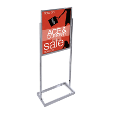 Azar Displays Metal Vertical Panel Poster