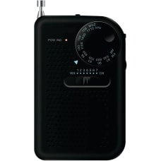 Sylvania Portable AMFM Radio Black Headphone