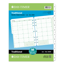 Day Timer Classic Monthly Refill Folio