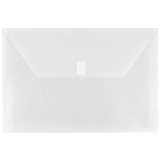 JAM Paper Plastic Booklet Envelopes With