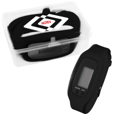 LED Pedometer Watch With Case 2