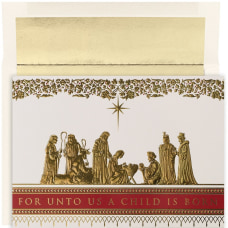 JAM Paper Christmas Card Set Manger