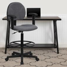 Flash Furniture Ergonomic Drafting Chair GrayBlack