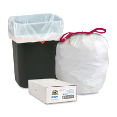Genuine Joe Flex Drawstring Trash Liners