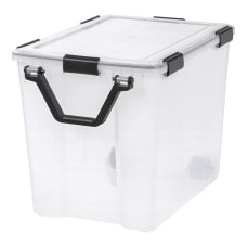 IRIS Weathertight Plastic Storage Container With