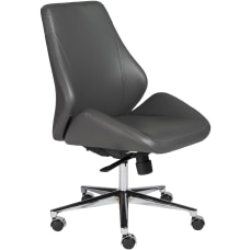 Eurostyle Bergen Armless Faux Leather Low