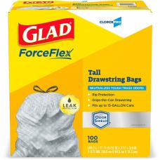 Glad ForceFlexPlus Tall Kitchen Drawstring CloroxPro