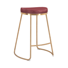 Zuo Modern Bree Counter Stools BurgundyGold