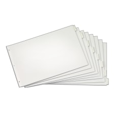 Cardinal Tabloid Paper Index Dividers 11