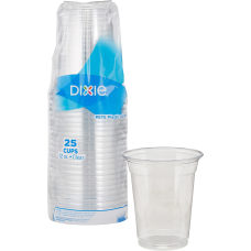 Dixie Clear Plastic Cold Cups 12