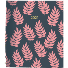 Blueline MiracleBind Coral Leaf Planner Professional