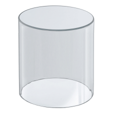 Azar Displays Acrylic Cylinder Medium Size