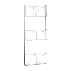 Azar Displays 6 Pocket Vertical Trifold