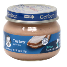 Gerber 2nd Foods Strained Turkey And