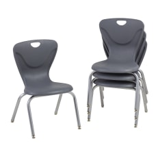 Factory Direct Partners Contour Chairs Gray