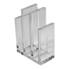 Azar Displays Acrylic File Sorter Bookends