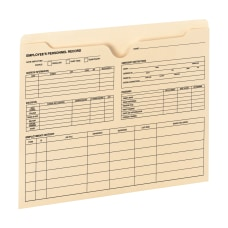 Smead Employee Record File Jackets Manila