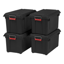 IRIS Weathertight Plastic Storage Containers With
