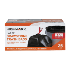 Highmark Large Drawstring Trash Bags 30