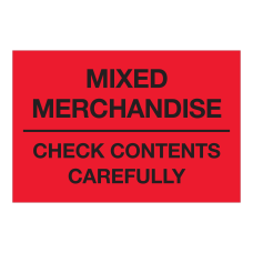 Tape Logic Labels Mixed Merchandise Check