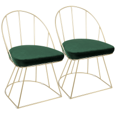 LumiSource Canary Dining Chairs GoldGreen Set
