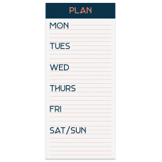 Office Depot Undated Weekly List Pad