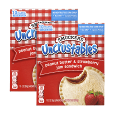 Smuckers Uncrustables Peanut Butter Strawberry Sandwiches