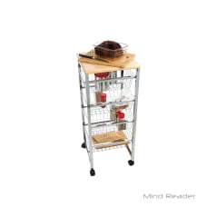 Mind Reader 4 Tier Stainless Steel