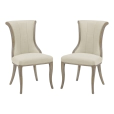 Linon London Flared Back Dining Chairs